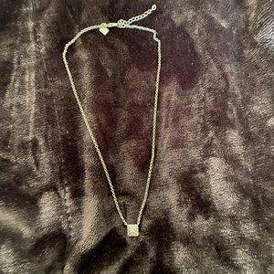 Square paved stone necklace